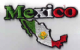 Mexico Embroidered Flag Patch, style 05.